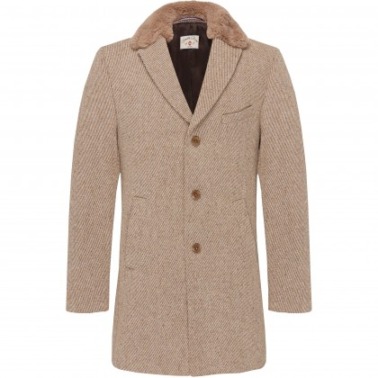 CG Malcom Coat with faux fur collar / Mantel/Coat CG Malcom BV