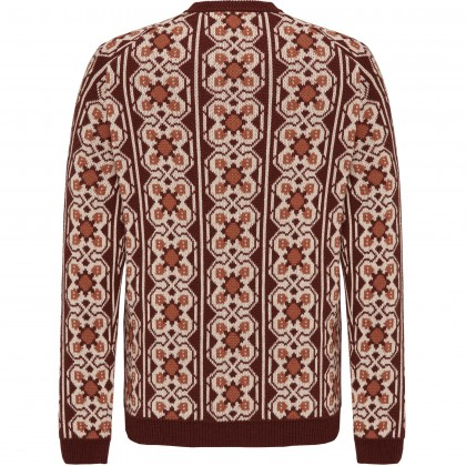 Roundneck pullover in jacquard pattern / Strick/Knitwear CG Beverly