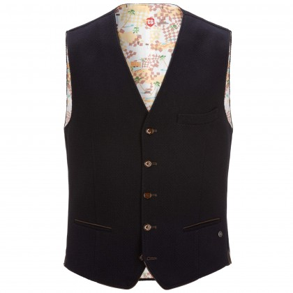 Waistcoat CG Mike with leather details / Weste/Waistcoat CG Mike