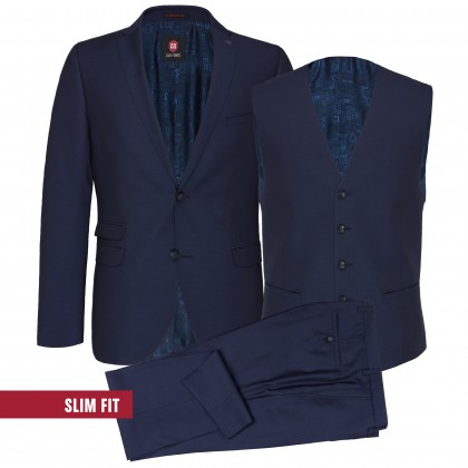 Dreiteiliger Business-Anzug CG Collin in strukturiertem Design / Anzug/suit CG Collin SS